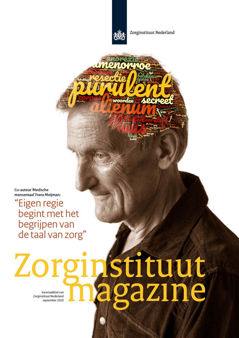 Voorblad Zorginstituut Magazine september 2020